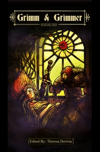 Cover for Grimm & Grimmer depicting a scene from Briar Rose aka Sleeping Beauty