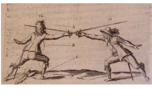 Another duel, another Rapier thrust to the face.