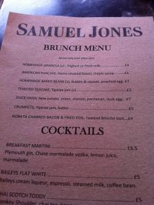 The brunch menu.